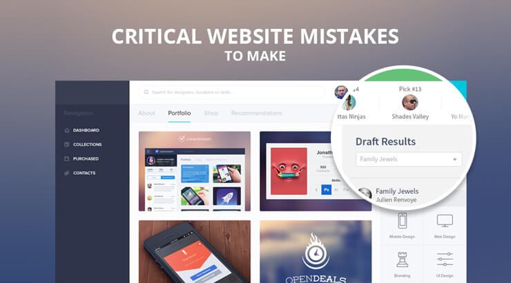 Critical Website Mistakes